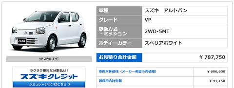 【朗報】軽の新車が乗り出し価格78万円