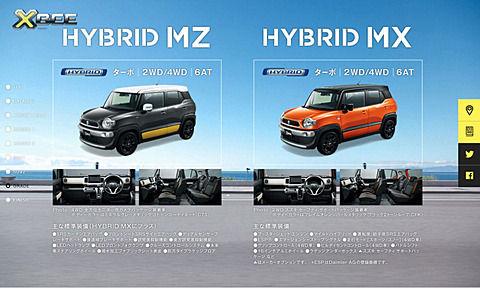 【車】スズキ、発売前の新型「クロスビー」の特設サイト公開 大人5人が乗れる小型クロスオーバーワゴン