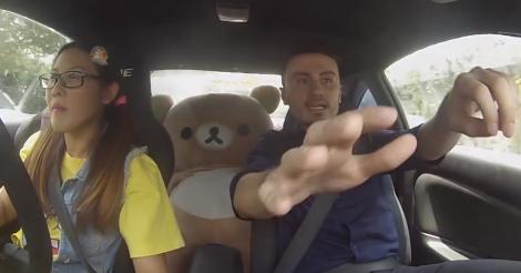 ドッキリ動画 自動車教習所の生徒がドリフトをして教官が絶叫【動画】