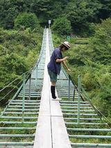 高さ2,30メートルの吊り橋