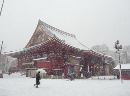 浅草寺snow2