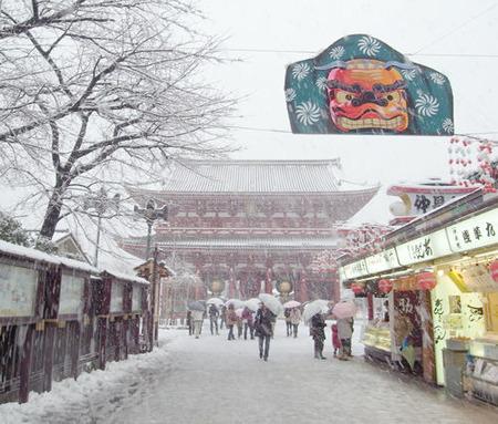浅草寺snow