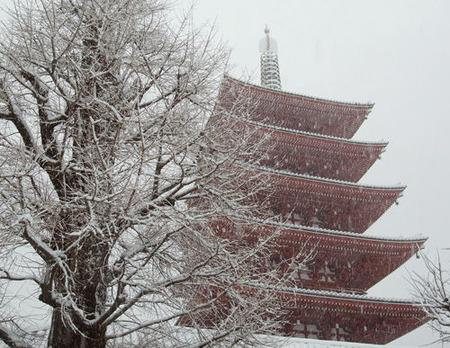 浅草寺・雪・20130114