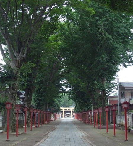 小山須賀神社・参道