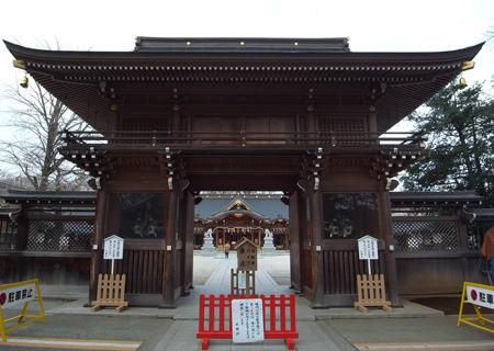 諏訪神社・立川・随身門
