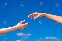 10520515-hand-reaching-out-from-the-blue-sky-Stock-Photo