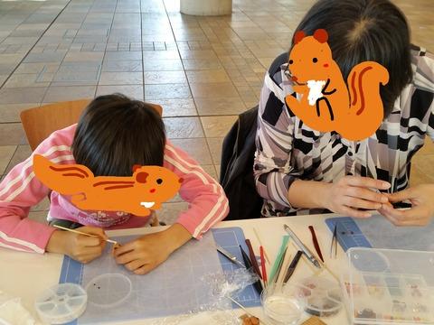 顔隠しリス子ちゃんと母リスさん