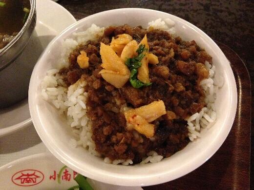 魯肉飯はめっちゃ味が濃かったw