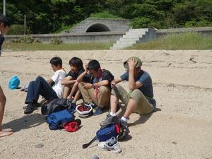 馬島の浜辺