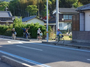 出発後の自転車走行
