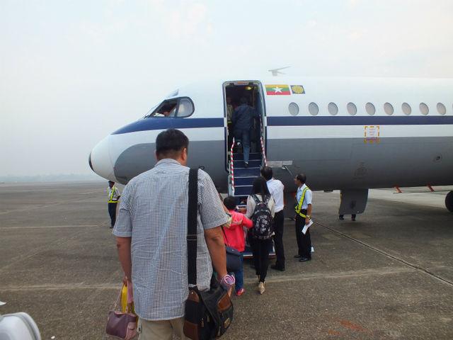 キャプローグフォッカー28 (Fokker F28 Fellowship) ミャンマー航空・国内線