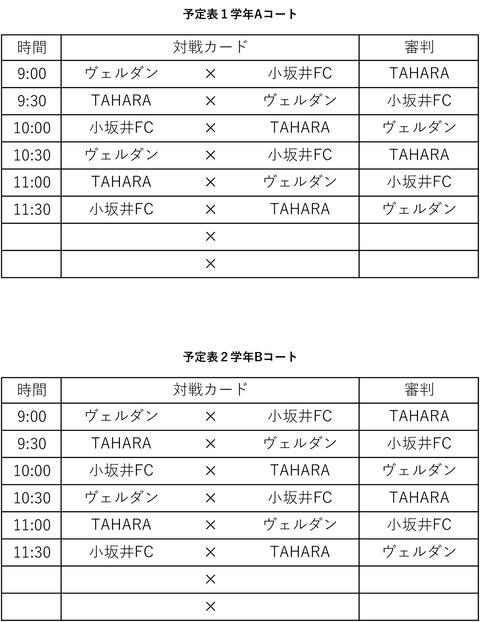 トレーニングマッチ711②