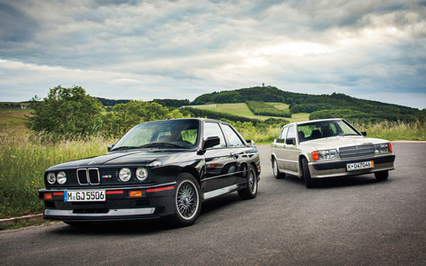 Mercedes-Benz-190E-2-3-16-BMW-M3-front-three-quarters-2