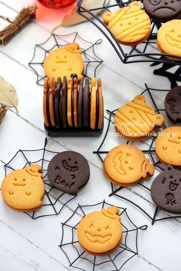 ハロウィンキャラメルチョコサンドクッキー600×900