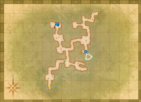 亡霊騎士の洞窟 MAP