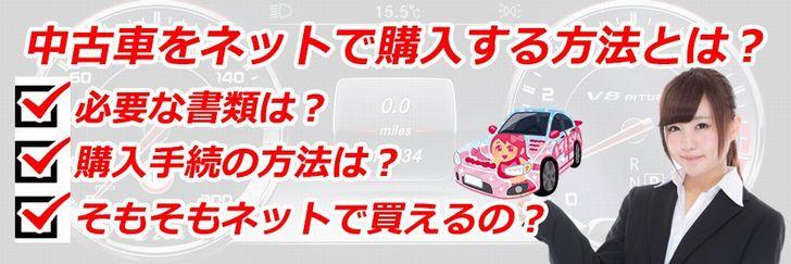中古車をインターネットで購入する方法とは?