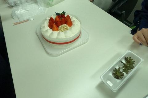 ケーキ飾り付け