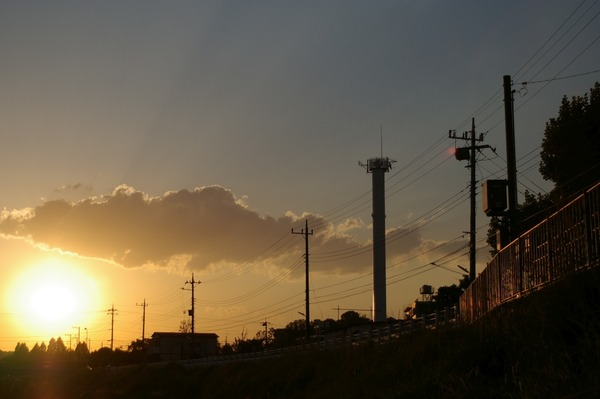 鶴見川の夕暮れ3