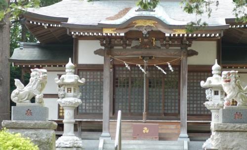 甲神社にて