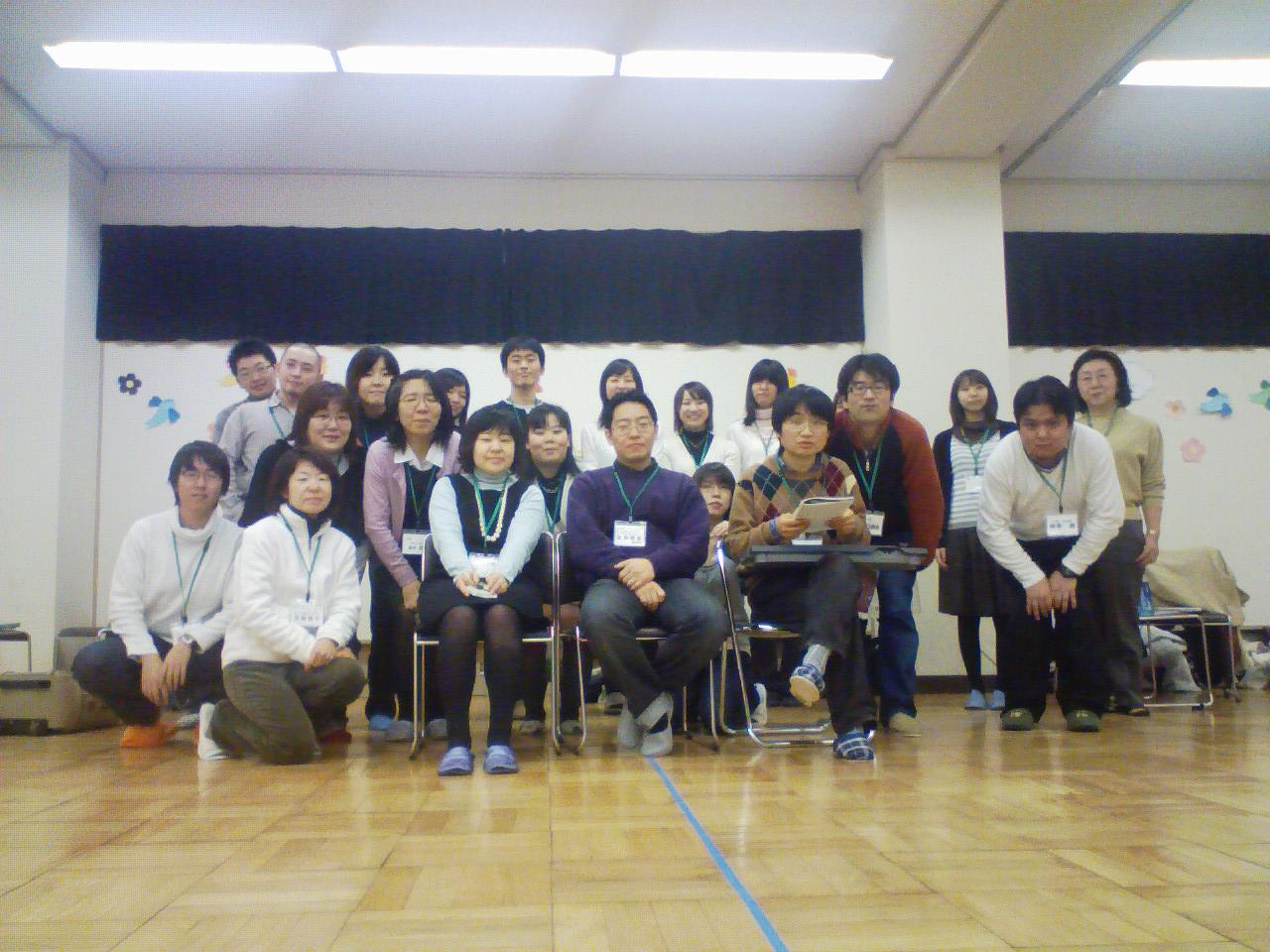 2008年2月3日の練習です