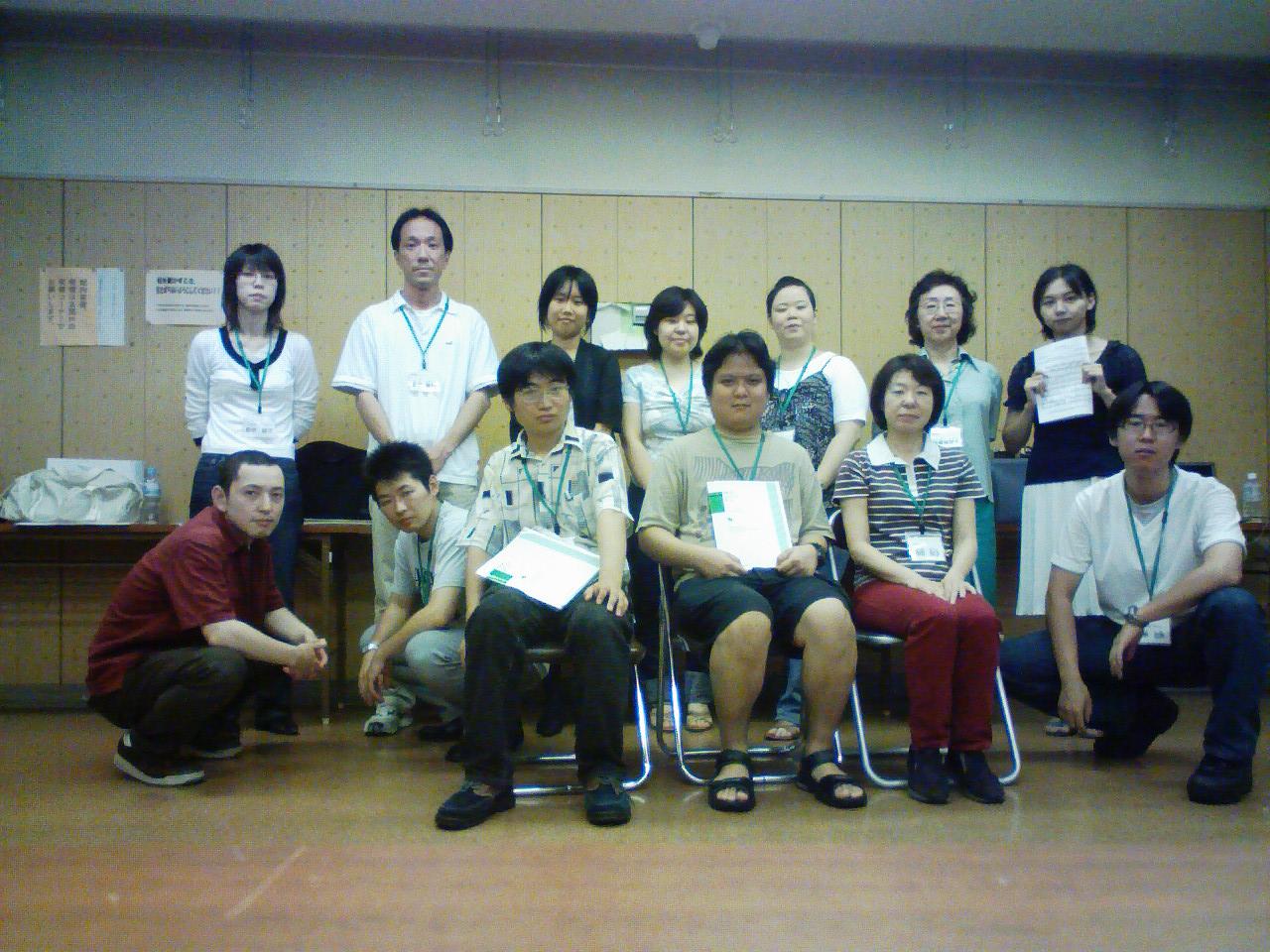 2007年9月16日の練習です