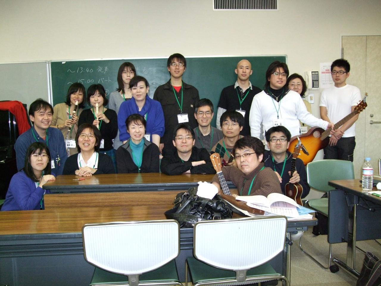 2009年2月1日の練習です
