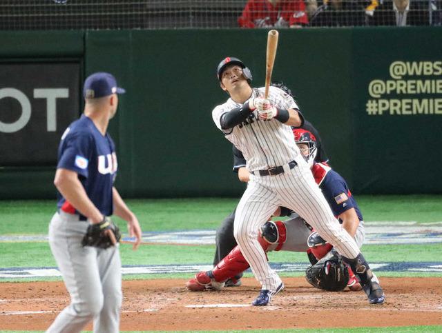 侍ジャパン鈴木誠也浅村栄斗コンビ3打点3得点