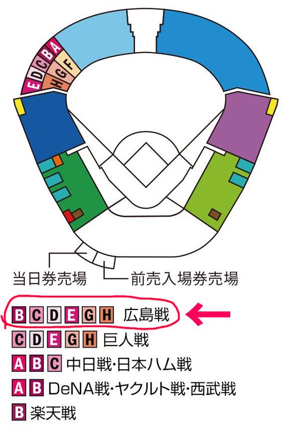 甲子園ビジター席広島カープ席数一番多い