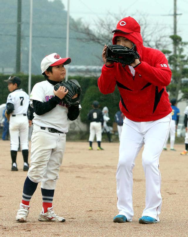 今村猛_プロ野球長崎県人会野球教室