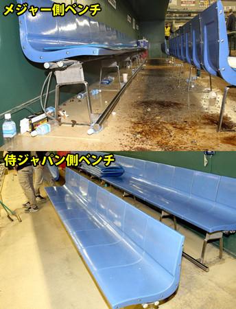 日米野球_メジャーのベンチ