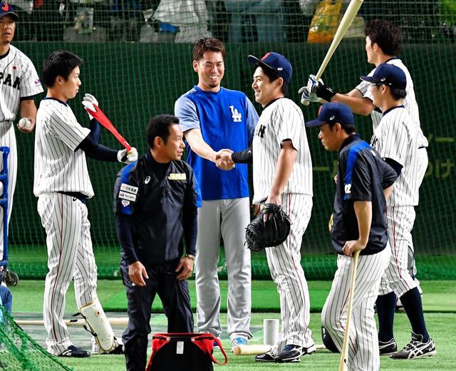 日米野球侍ジャパン前田健太合流