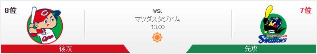 広島ヤクルト_オープン戦_マツダスタジアム