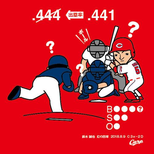 鈴木誠也幻の四球Tシャツ (1)