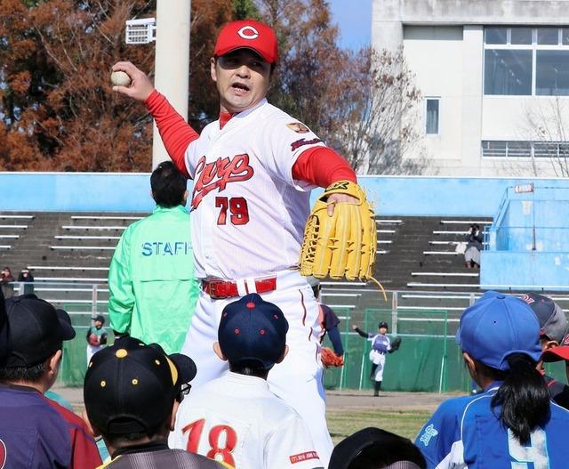 緒方孝市野球教室