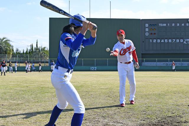 緒方孝市野球教室 (1)