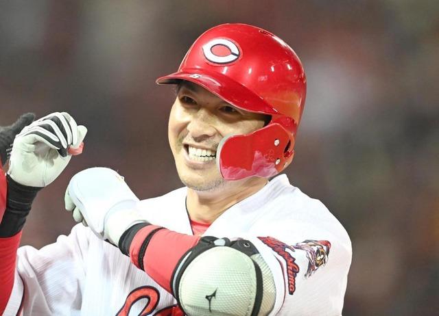 カープ長野久義10度目の二桁本塁打達成
