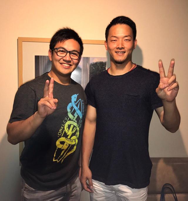 薮田和樹夫妻_山﨑康晃_食事会 (1)