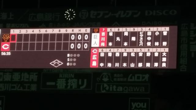 広島カープ開幕スタメン