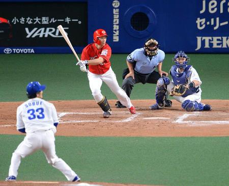 カープ西川龍馬『変態打法』タイムリー!悪球打ちで得点圏打率.533