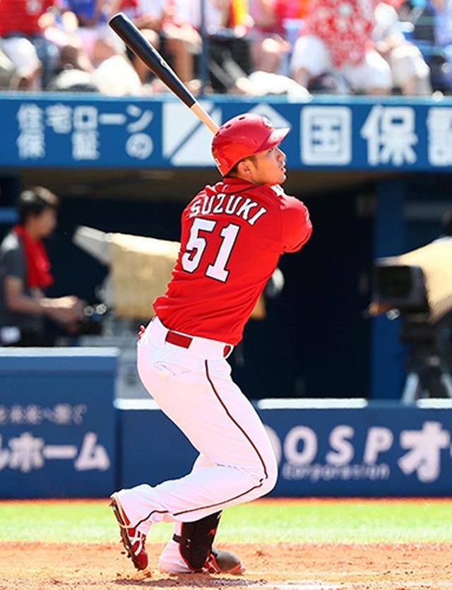 鈴木誠也背番号1変更