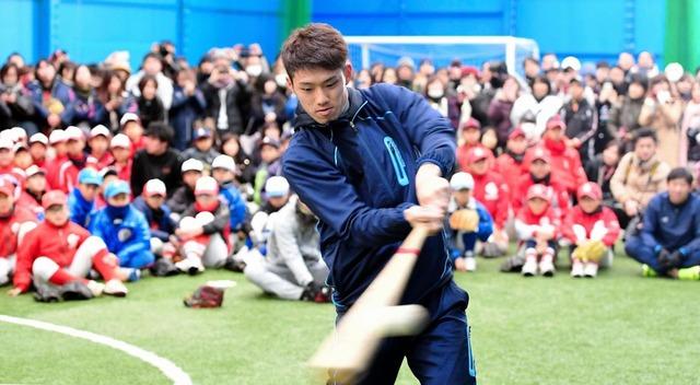 中村奨成広陵野球教室