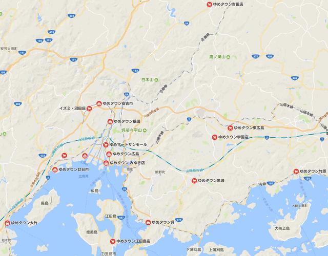 ゆめタウン広島スーパー店舗