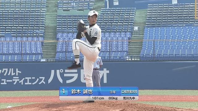 鈴木誠也高校野球投手06