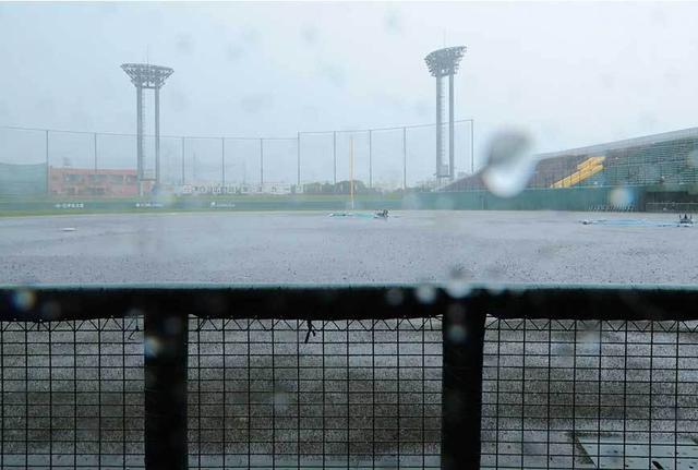 広島ロッテ戦雨天中止