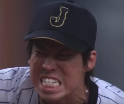 マエケン投球時表情
