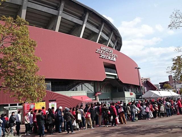 2016年開幕戦マツダスタジアム