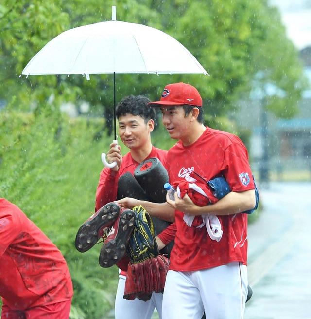 カープvs横浜は雨天中止。3連戦すべて中止の可能性も