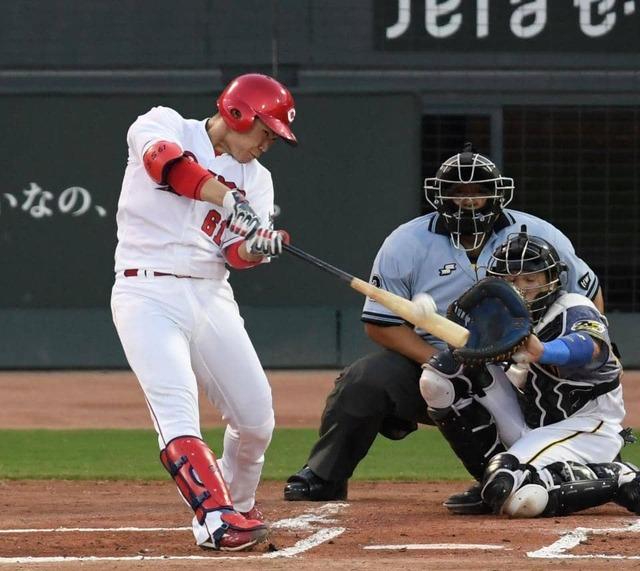 カープ菊池5号!坂倉3号2ラン!阪神西からホームラン攻勢で3打点