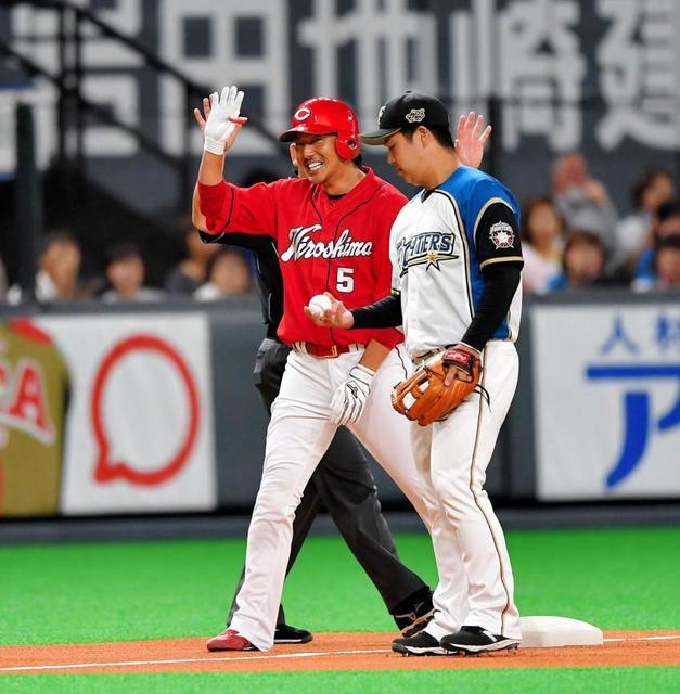 長野久義DHの呪いを解く3塁打