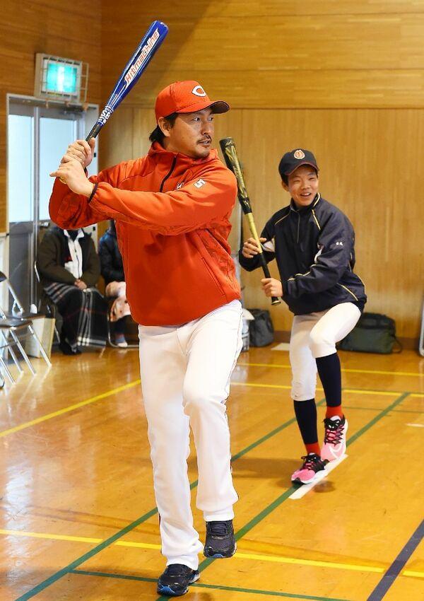 長野久義佐賀県野球教室